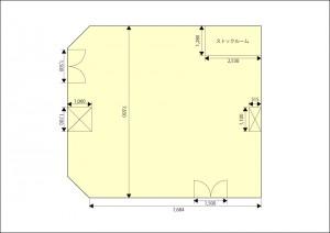 展示スペース平面図
