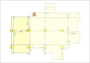 小ホール 平面図