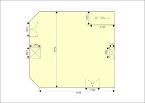 平面図 テンジスペース